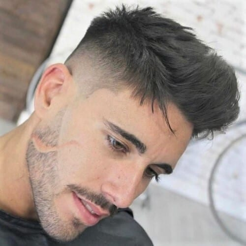 Sharp and Curved Shape Up Haircut