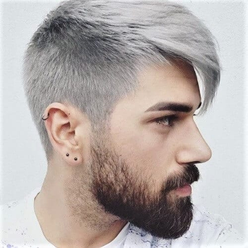 Silver Gray Hair Color for Men