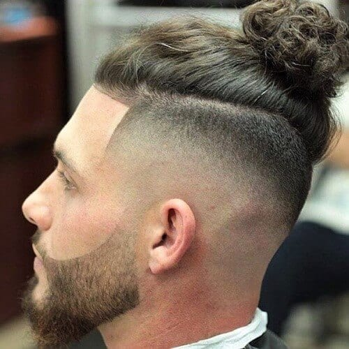 Skin Fade Top Knot