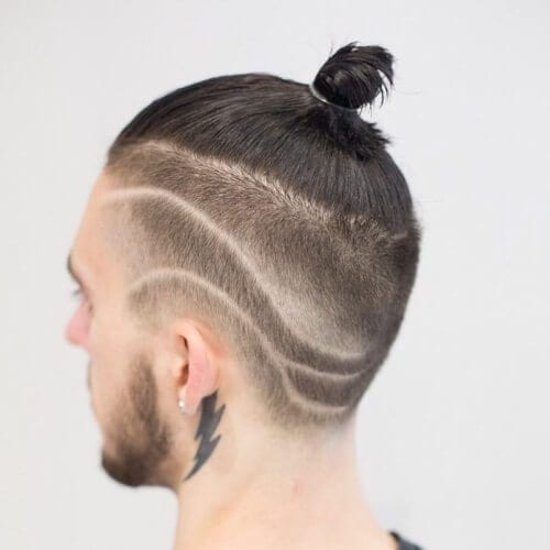 Undercut Design Top Knot Men