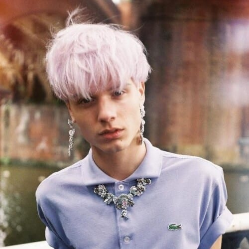 White Hair Color for Men with Subtle Tint