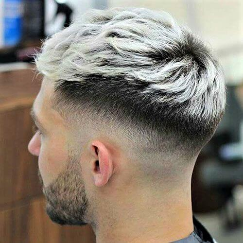White and Black Mens Hair Color