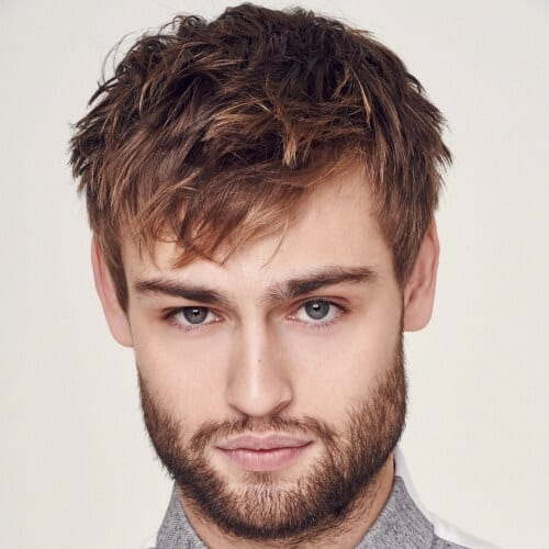 Angular Textured Fringe Business Man Haircut