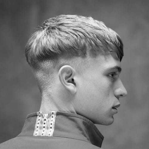Bowl Cut Haircuts in Layers for Men