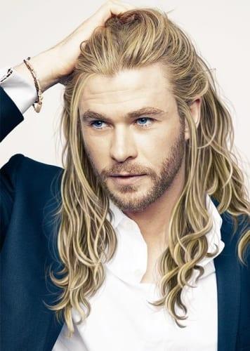 Chris Hemsworth long blonde hair