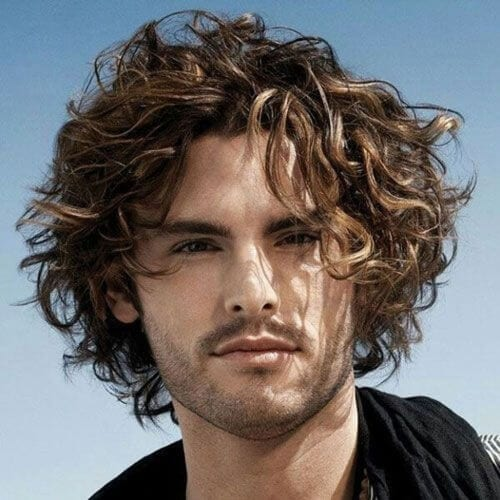Curled Hairstyles for Men with Straight Hair