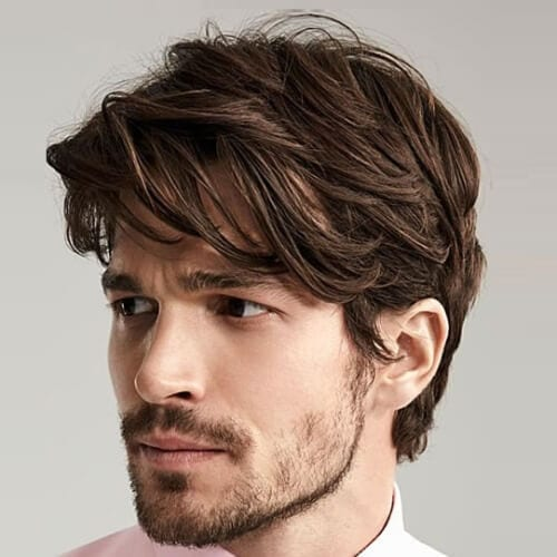 Layered Fringe Business Haircut