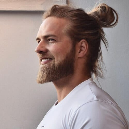 Man Bun Hairstyles for Men with Straight Hair