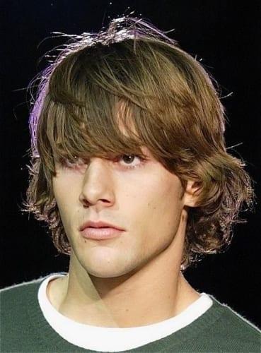 Medium to Long Layered Shag Haircuts for Men