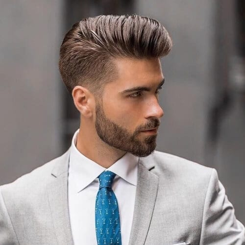 Pompadour Business Taper Haircut
