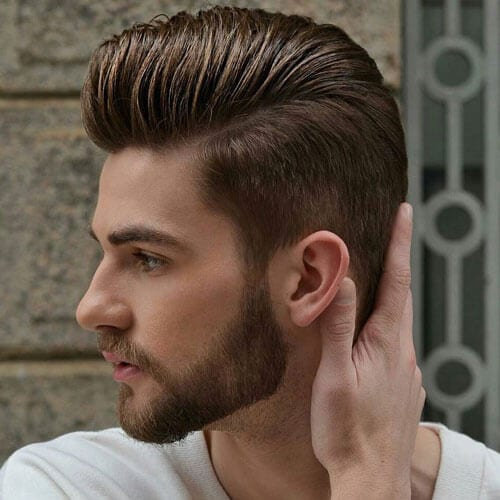 Pompadour Haircuts for Straight-haired Men