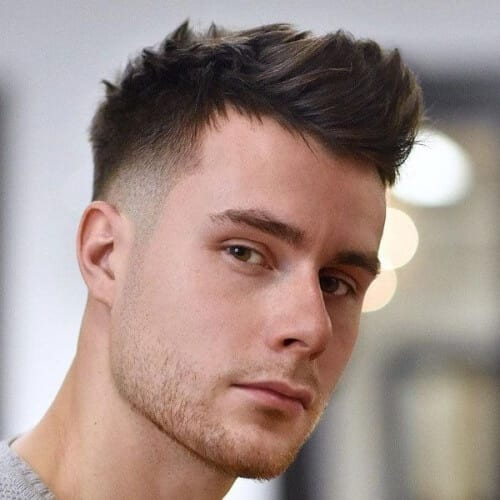 Quiff Short Haircuts for Men with Straight Hair