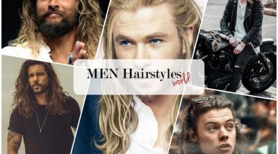 male celebrities with long hair collage