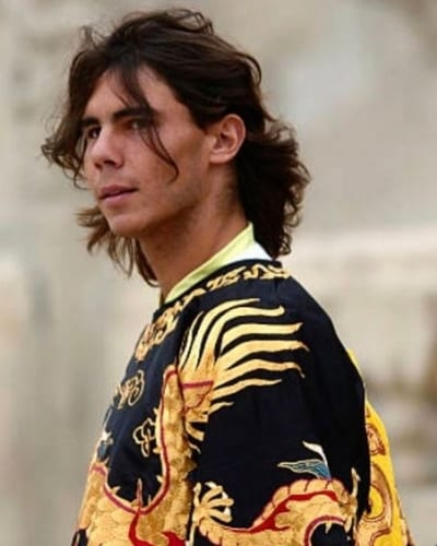 rafael nadal medium wavy hair