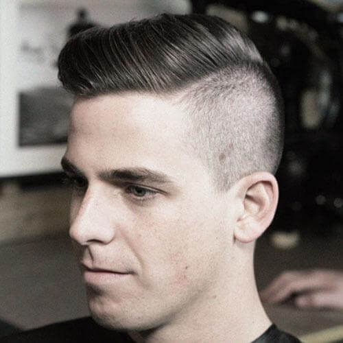 Comb Over and Undercut Best Hairstyle for Oval Shape Face
