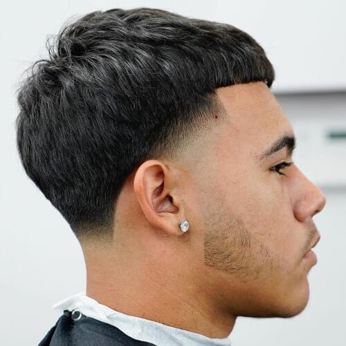 French Crop Haircut for Men with Thick Hair
