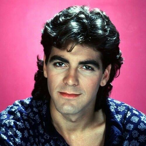 George Clooney Mullet
