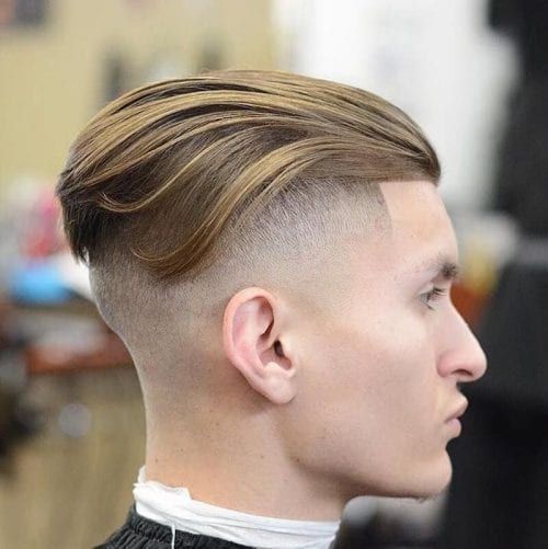 High Fade Long Top Hairstyles for Square Face