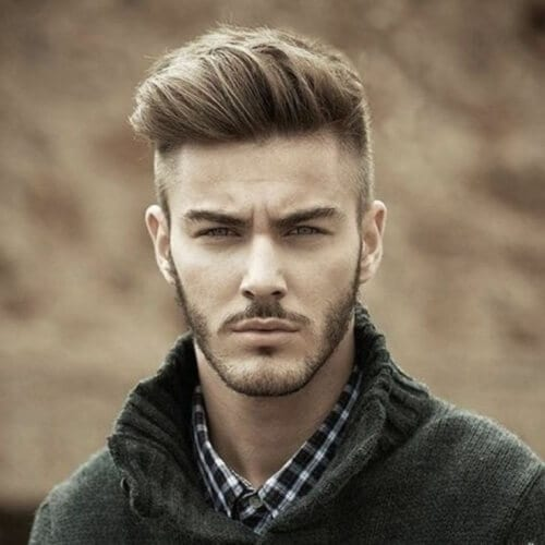 Short Sides Long Top Best Hairstyle for Oval Shaped Face Male