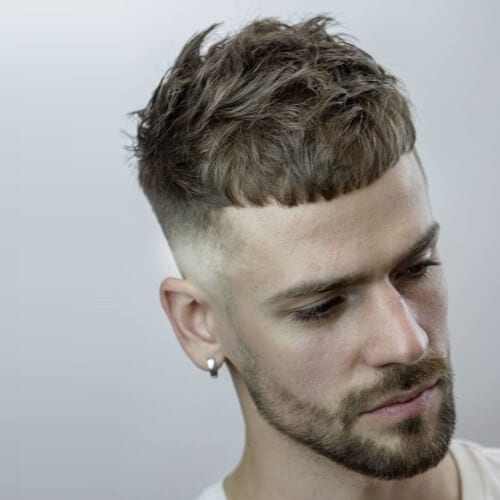 Textured French Crop Haircuts for Diamond Face