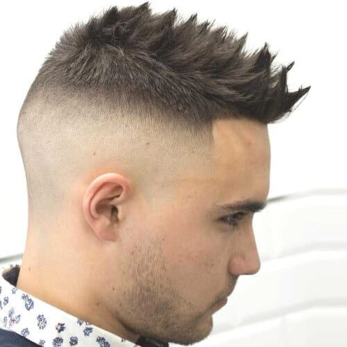 Undercuts with Spiky Hair for Round Face