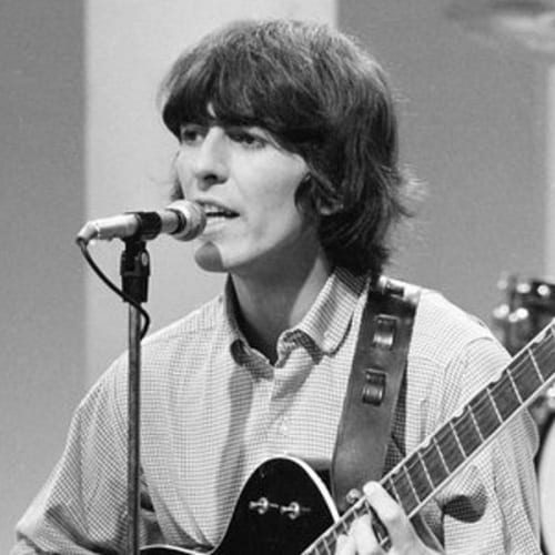 george harrison  beatles hair mop top
