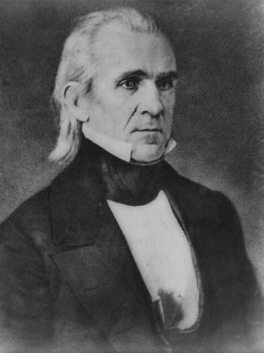 james k polk mullet hair