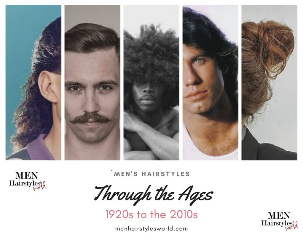men hairstyles through the ages featured image